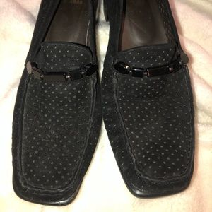 Stuart Weitzman Black Suede Loafers Size 8